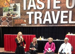 Gratitude Gourmet Moderates Cuisine Noir Culinary Travel Panel at Bay Area Travel and Adventure Show